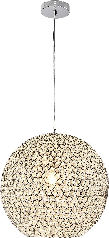 Kugel-Lüster Deckenleuchte/Deckenlampe - Crystal - von - Modernes Design:  Kron-leuchter aus Aluminium & Kunst-Kristall - Ø 199 cm mit 19 x E194 Sockel -
