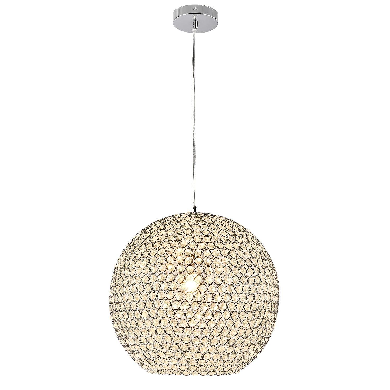 Kugel-Lüster Deckenleuchte   Deckenlampe - Crystal - von [lux.pro]® - Modernes Design  Kron-leuchter aus Aluminium & Kunst-Kristall - Ø 40 cm mit 1 x E14 Sockel - für Wohnzimmer & Schlafzimmer