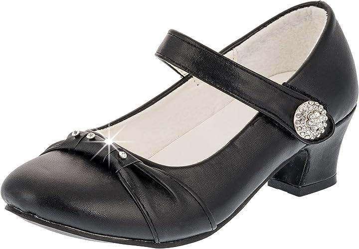 Festliche Kinder Mädchen Pumps Ballerina Schuhe Absatz