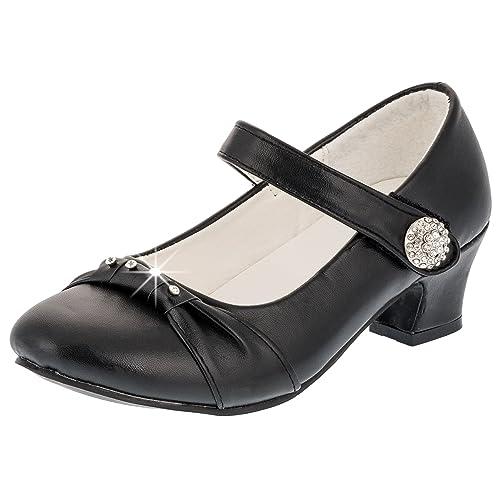 sale retailer f6f08 7c0e6 Festliche Mädchen Pumps Ballerinas Schuhe Absatz Strass