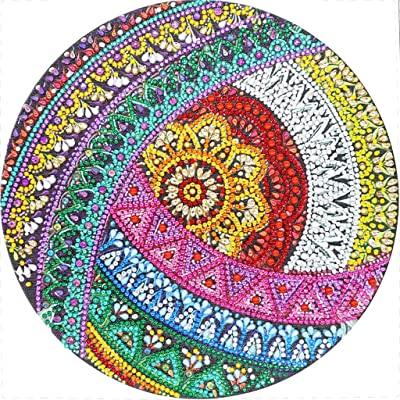 cici store Spiral Flower 5D Special Diamond Painting Kit for Home Bedroom Wall Decoration Housewarming Gift,3030cm: Toys & Games