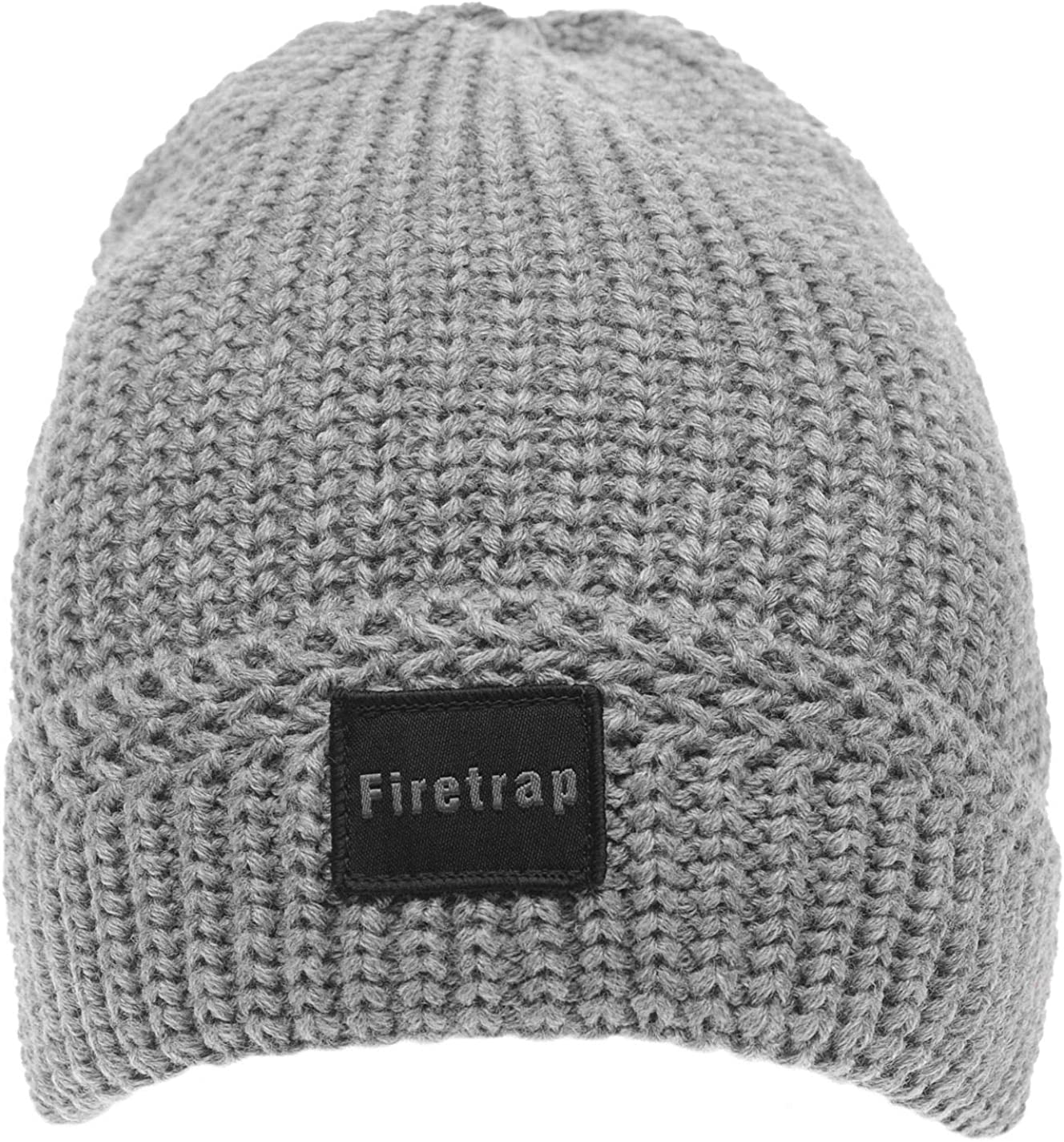 Firetrap Mens Ribbed Beanie Hat Cap Winter Knit Warm Snow