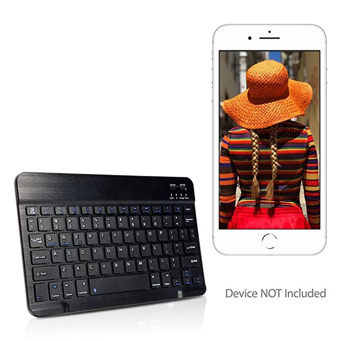 on sale 5608f 38158 Amazon.com: Apple iPhone 8 Plus Keyboard, BoxWave [SlimKeys ...