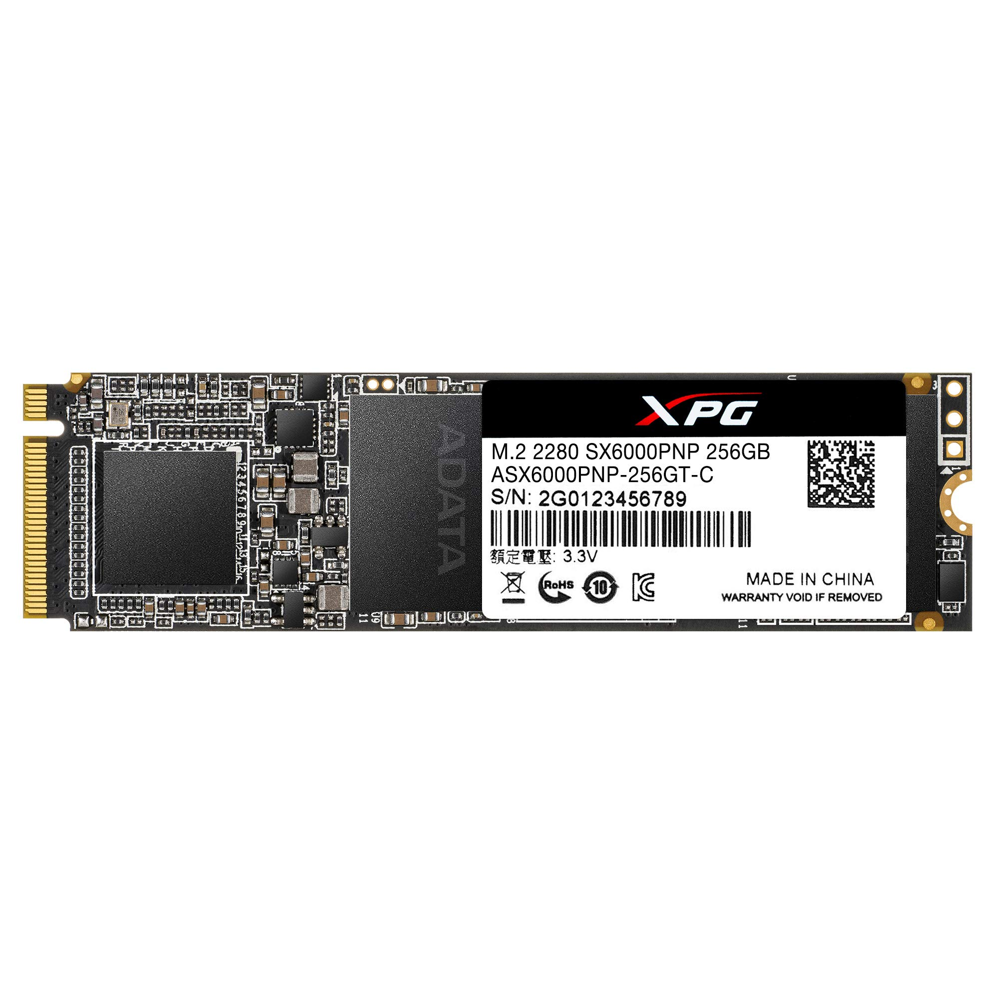 XPG SX6000 Pro 256GB PCIe 3D NAND PCIe Gen3x4 M.2 2280 NVMe 1.3 R/W up to 2100/1500MB/s SSD (ASX6000PNP-256GT-C)