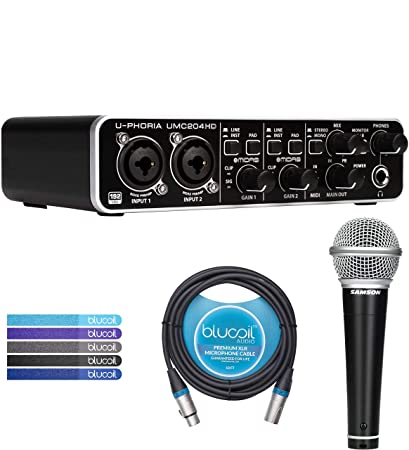Amazon com: Behringer U-PHORIA UMC204HD USB MIDI/Audio Interface