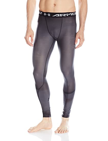 1b15efb841 Under Armour Men's Charged Compression Leggings, Graphite (040)/Black, Small