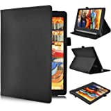 Lenovo YOGA Tab 3 Pro 10.1-Inch Cover Custodia - IVSO Slim-Book Case Custodia Protettiva in pelle PU per Lenovo YOGA Tab 3 Pro 10.1-Inch Tablet (Nero)