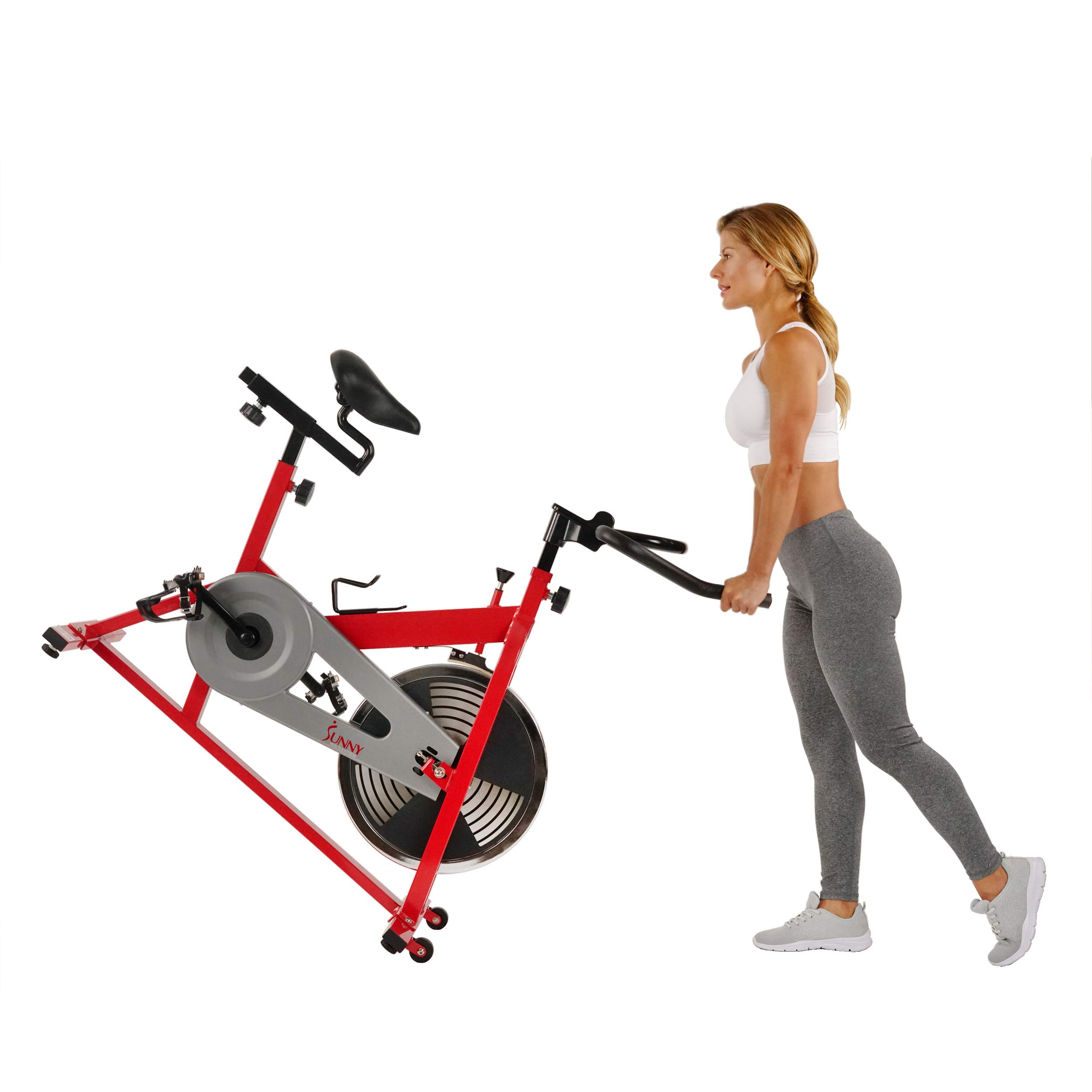Sunny Health & Fitness SF-B1001 Indoor Cycling Bike, Red by Sunny Health & Fitness (Image #13)