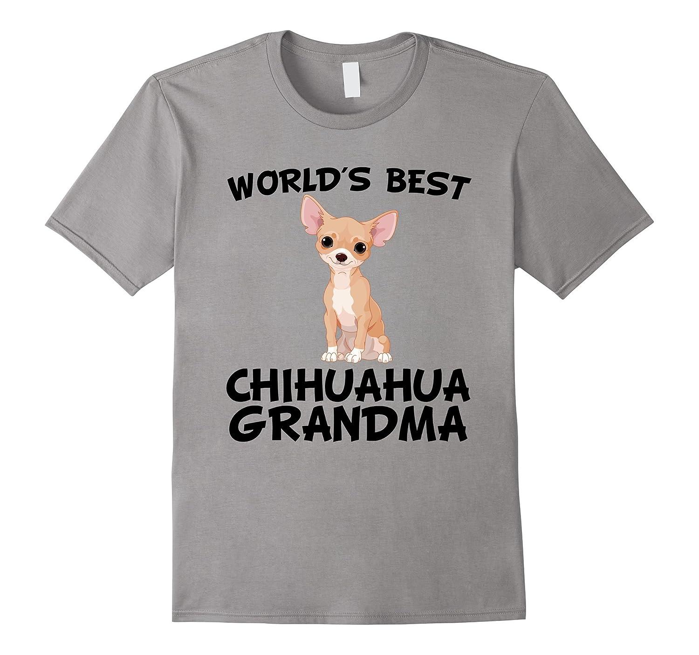 Worlds Best Chihuahua Grandma Dog Owner T-Shirt-BN