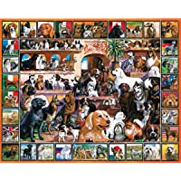 """Jigsaw Puzzle Lovable Pets 1000 Pieces 24""""X30""""-The World Of Dogs"""