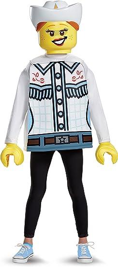 LEGO 18474l Classic – Disfraz de vaquera (tamaño pequeño, 4 – 6 ...