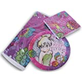 Tinkerbell Fairy Party Set - Tablecover, Dinner Plates, and Dinner Napkins