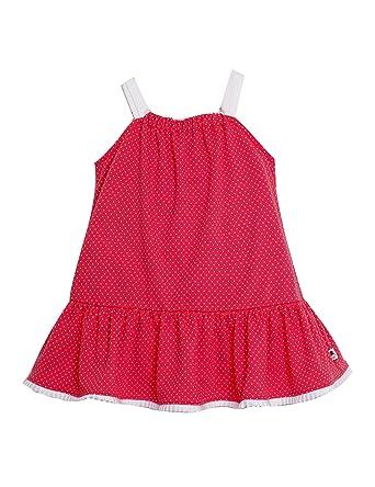 VESTIDO NIÑA rosa coral AMAPOLA _vestido niña tirantes, vestido niña bonito, vestido niña rojo, vestido niña playero: Amazon.es: Ropa y accesorios