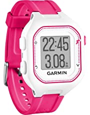 Garmin 010-01353-31 Forerunner 25 Small GPS Running Watch, White/Pink