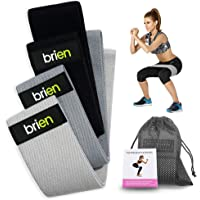 Brien 3 Resistance Bands for Legs and Butt Set, Exercise Fitness Booty Hip Bands - Resistance Loops Hip Thigh Glute…
