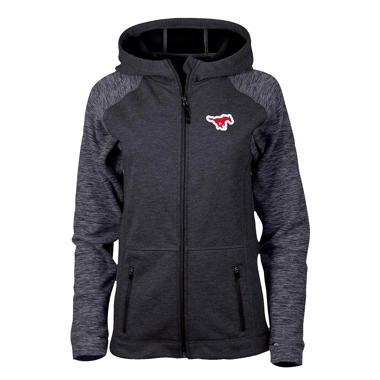 S Black Heather//Charcoal Heather NCAA SMU Mustangs Womens Womens Hybrid II JacketWomens Hybrid II Jacket