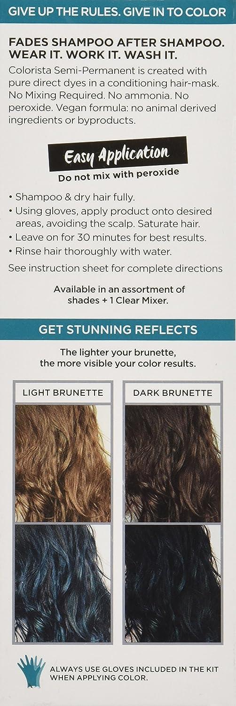 Amazon Com L Oreal Paris Colorista Semi Permanent Hair Color For Brunettes Teal Beauty