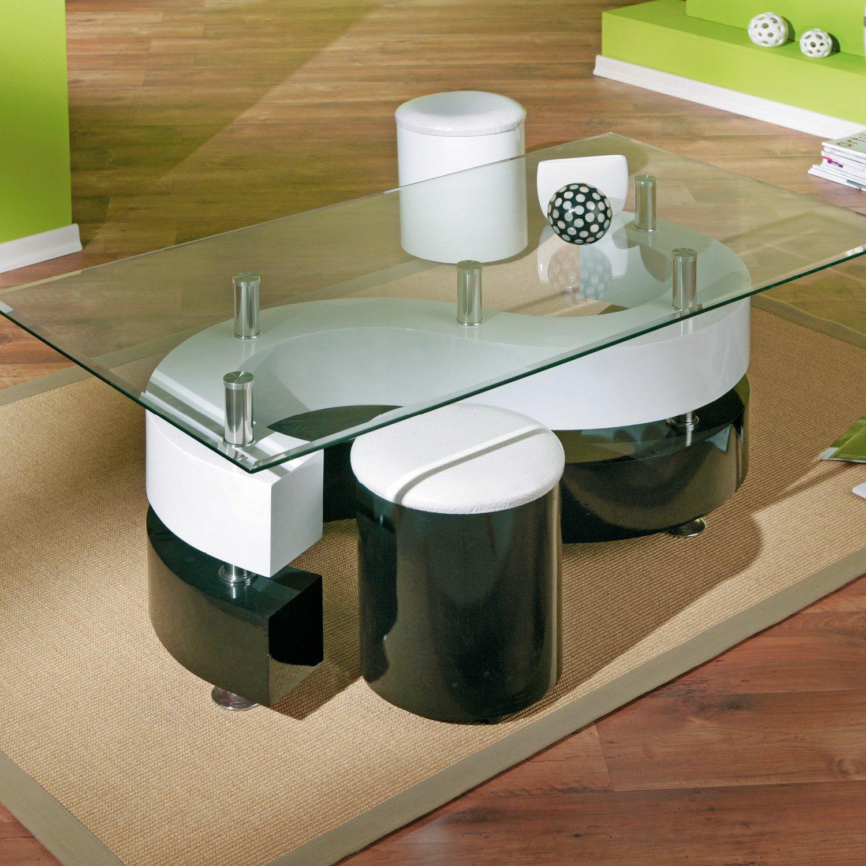 Glastisch schwarz  Links 50100015 Couchtisch Glastisch Wohnzimmertisch Wohnzimmer ...