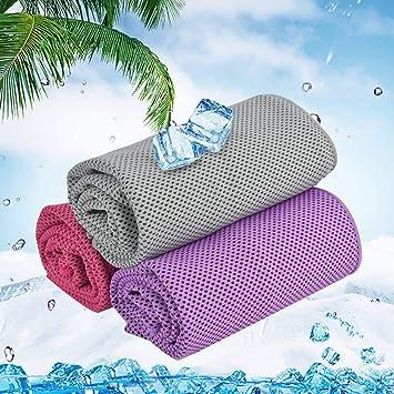 Outgeek Medio Mano refrigeración, Ultra Soft Deportes Toalla de Mano para Ejercicio Fitness habitación Yoga