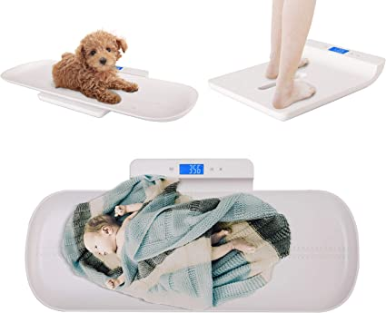 TFCFL Digital Baby Scale Digital Pet Scale Portable Newborn Weighing Scale Homeuse 220lbs Capacity Infant Baby or Small Pet Scale Touch Button Dog Cat Weight Scale KG//LB//OZ