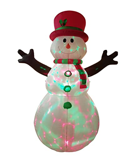 7e4fae482aacc Amazon.com  Dreamone 8.5 Foot Christmas Inflatable Snowman with Flashing  Lights for Christmas Decorations Indoor Outdoor Yard Garden Party  Decorations  ...
