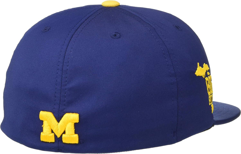 NCAA Zephyr Michigan Wolverines Mens Fleet Hypercool Performance Hat Primary Team Color Medium//Large