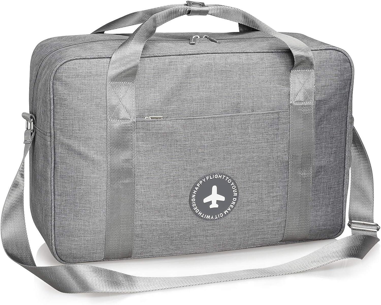 Swan Travel Carry-on Luggage Weekender Bag Overnight Tote Flight Duffel In Trolley Handle