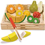 Melissa & Doug 4021 Cutting Fruit Set - Wooden Play Food Kitchen Accessory