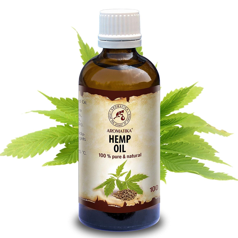 Olio Di Semi Di Canapa 100ml - Olio Naturale Al 100% - Cannabis Sativa Seed Oil - Olio Per Viso - Corpo - Capelli - Pelle - Cura Del Corpo Da Aromatika