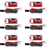 Kuman Mechanical Endstop Limit Switch with Cable For 3D Printer RepRap Prusa Mendel CNC for Arduino Mega 2560 RAMPS 1.4(Pack of 6) KB01