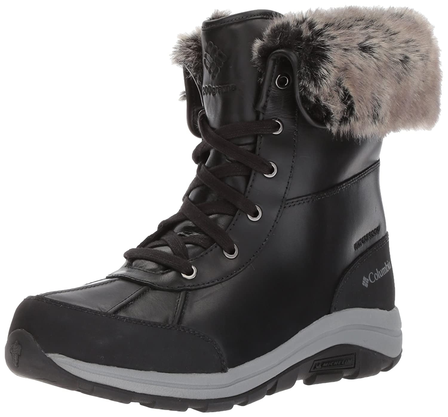 Columbia Women's Bangor Omni-Heat Ankle Boot B01N9JH4AX 7.5 B(M) US|Black, Monument