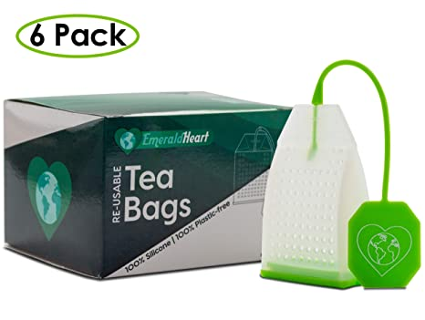 Amazon.com: Juego de 6 infusores de té de silicona con ...