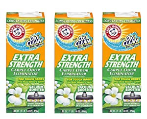 Arm & Hammer Extra Strength Carpet Cleaners (30 Oz), Pack of 3
