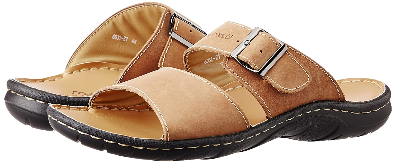 5858c8b0eb1 Miraatti Men s Yellow leather Sandals and Floaters - 11 UK (6031-21)  Buy  Online at Low Prices in India - Amazon.in