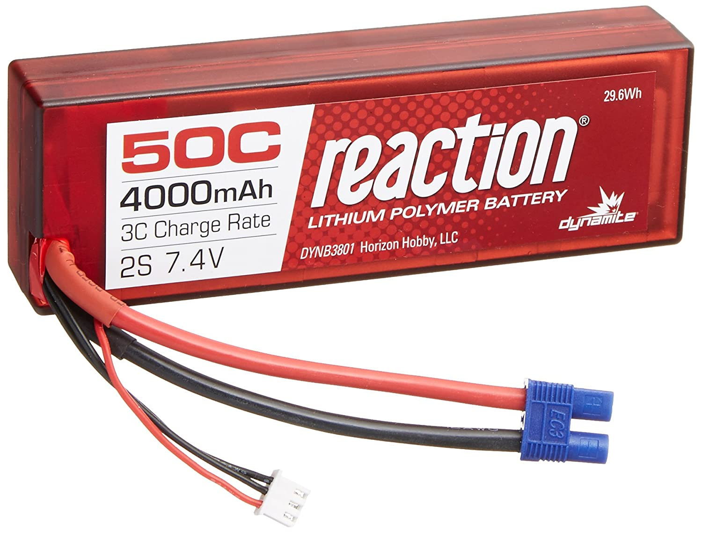 Dynamite Reaction 2S 7,4V 4000mAh 50C LiPo-Akku im Hard Case m. EC3-Anschluss