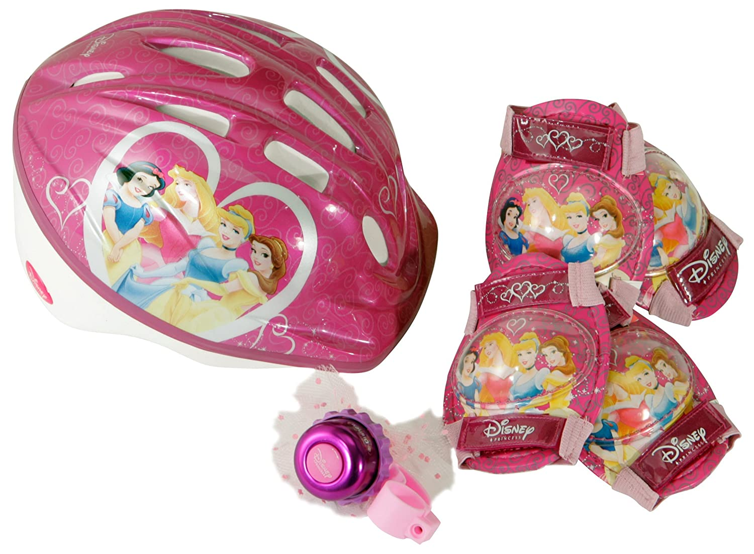 Disney Princess Micro Bicycle Helmet and Protective Pad Value Pack (Child)