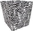 Trend Lab Fabric Storage Bin, Zebra Print, Medium