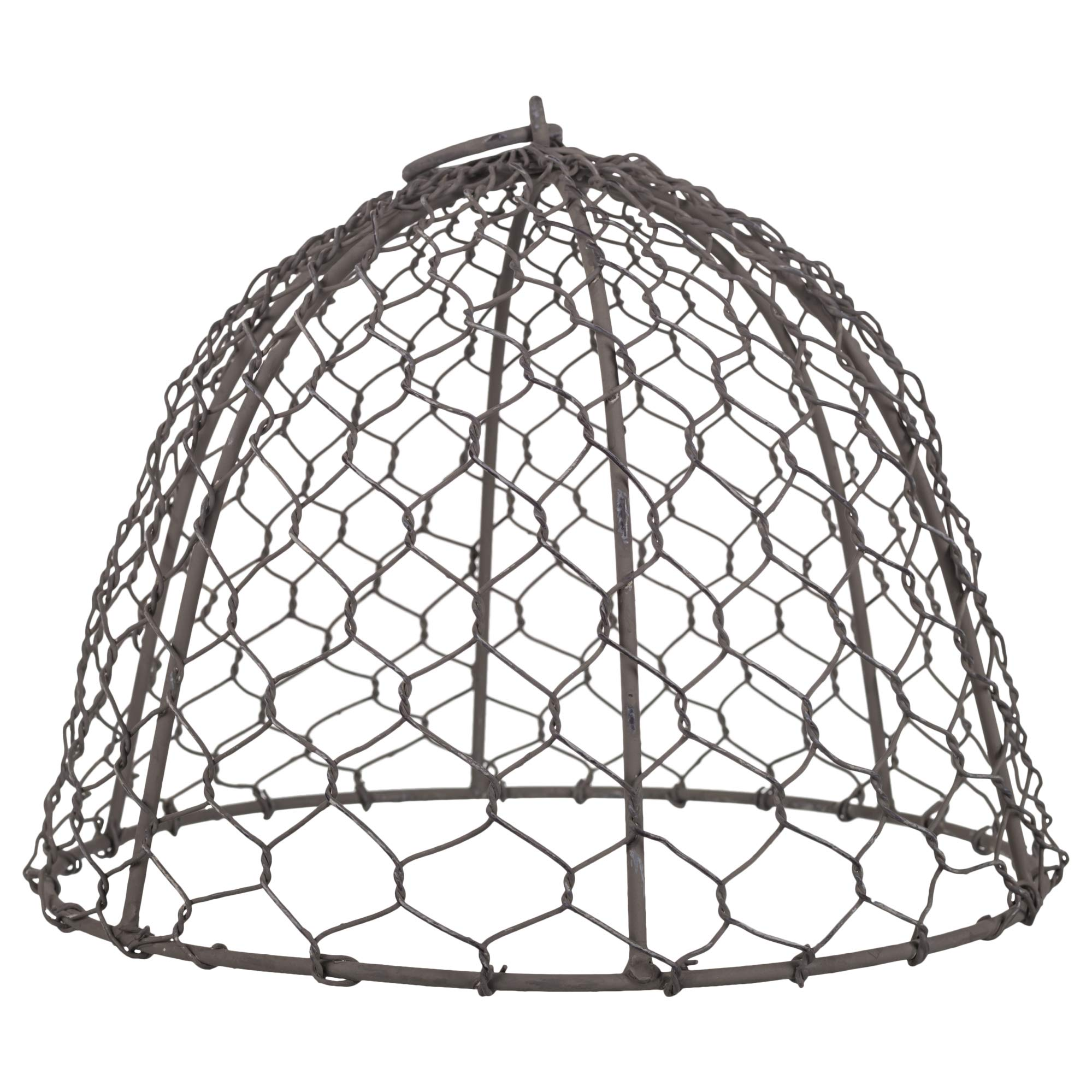 The Country House Domed Cloche Silver Tone 11 x 7 Chicken Wire Mesh Tin Metal Plant Cover