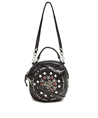 style le plus récent véritable les ventes chaudes Campomaggi Femmes sac de bowling en cuir clouté Gris Une ...