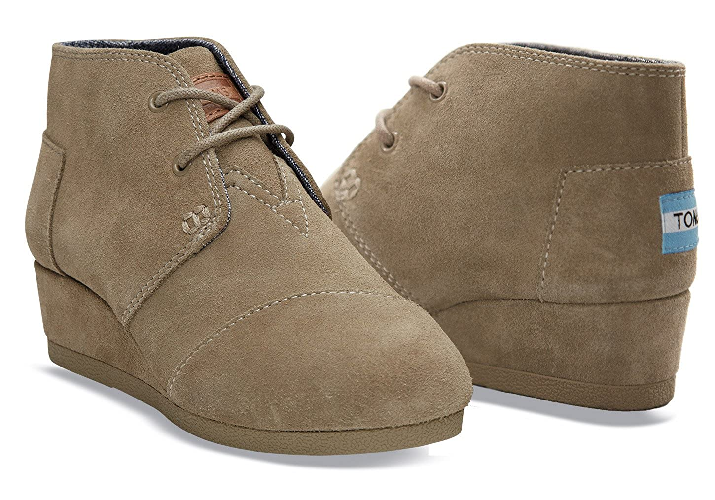 7bf59399c2a0 TOMS Taupe Suede Youth Desert Wedge 10003598 (Size  13.5D)