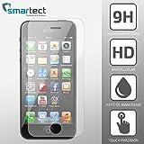 SmarTect® iPhone SE / 5s / 5c / 5 Premium Panzerglas Display-Schutzfolie aus gehärtetem Tempered Glass   Gorilla-Glas mit Härtegrad 9H   Panzerfolie - Top-Schutzglas gegen Kratzer (gerundete Kanten)