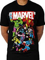 Avengers Ironman Hulk Captain America Licensed Marvel Comics Movie Mens Black T-shirt