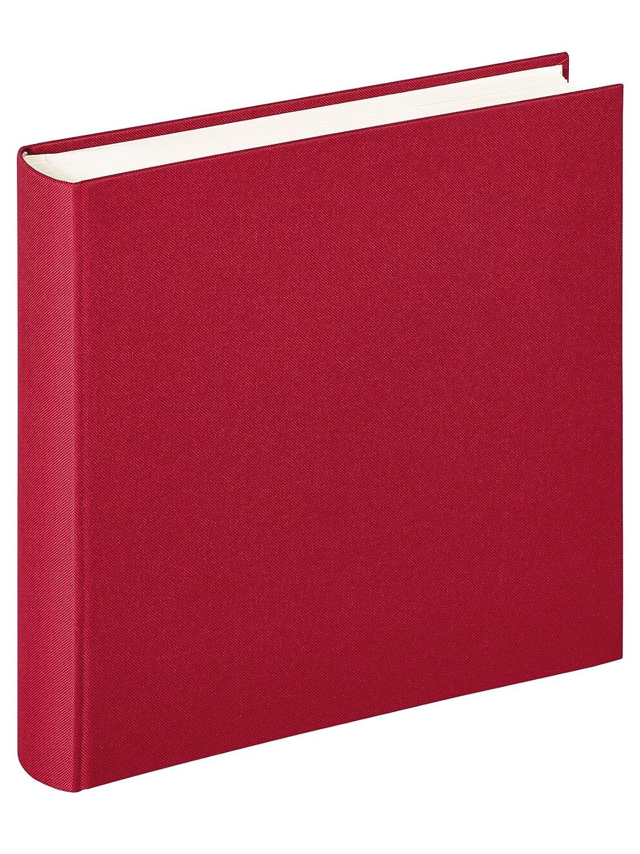 Walther Walther Walther Design SBL-235-Y Tornillo álbum Unido Lino, 39 x 31 cm, con Lino, 40 páginas Negras, Rojo 8b006b