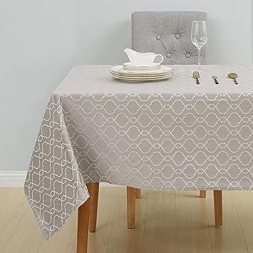 Rectangulaire Table De Taupe Jardin Jacquard Deconovo Clair 140x300cm Nappe Impermeable Motif Marocain strdCxhQB