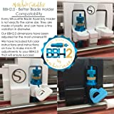 BBH 2.0 Blade Holder for Silhouette Cameo 3 - Black w/Starter Kit 5 Pack DEEP Premium Carbide Blades - Vinyl Cutting Machines -Better Blade Holder - Also for Curio Portrait -by Miss Kate Cuttables