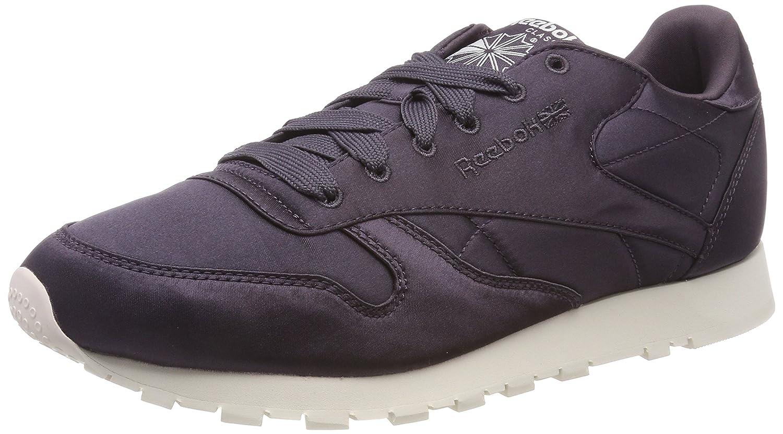 Reebok Damen Classic Leder Satin Sneaker Violett (Smoky Volcano/Classic Weiß 000)