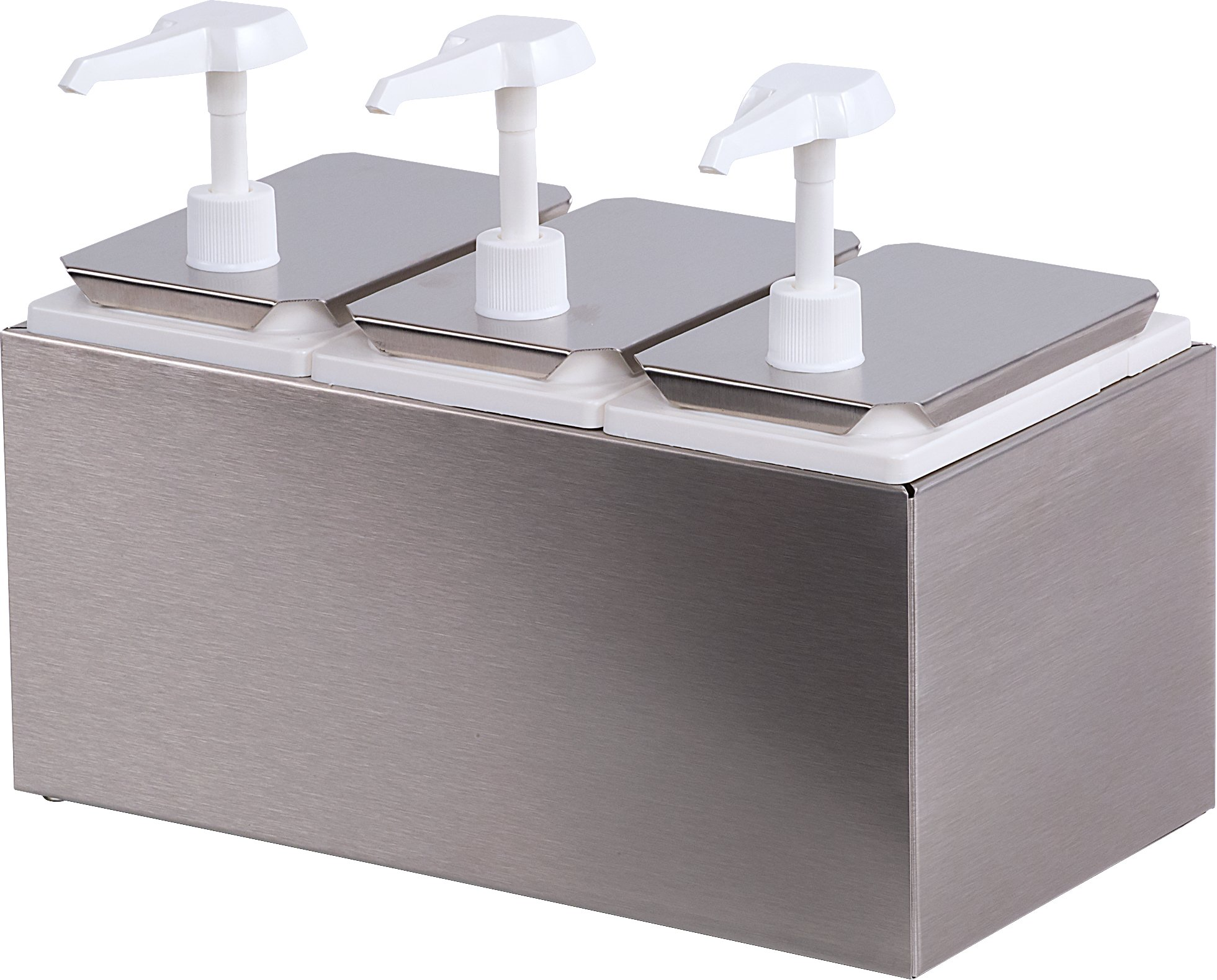Carlisle 38503 Tripple Condiment Pump Station with 2.5 Quart Jars by Carlisle