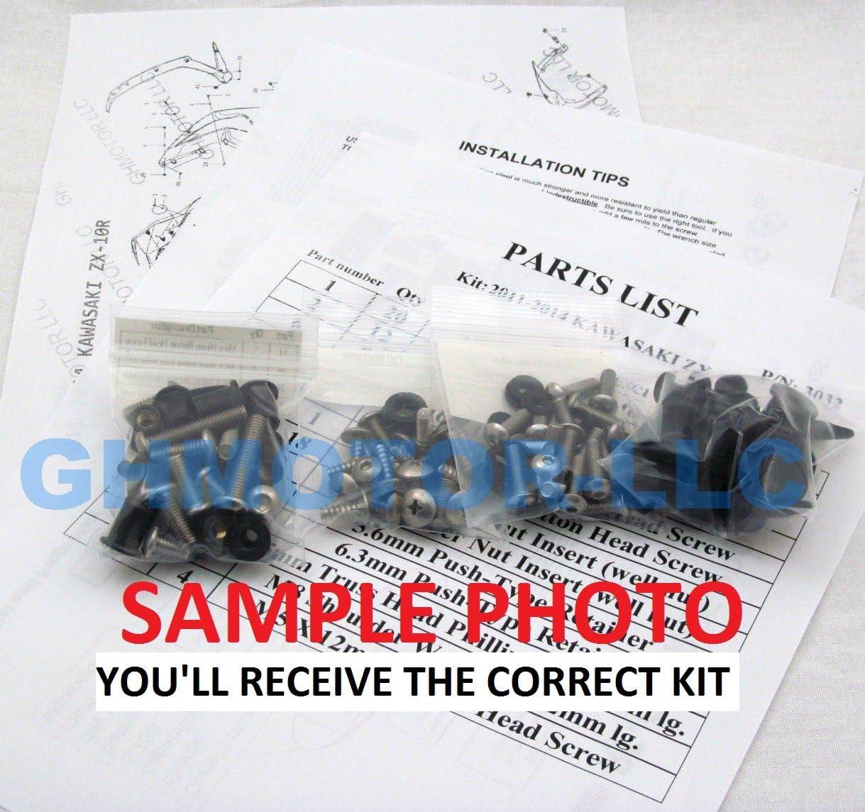 2007 2008 2009 2010 2011 DUCATI 848 1098 1198 2011 2012 2013 848 EVO Complete Fairings Screw Set MADE IN THE USA