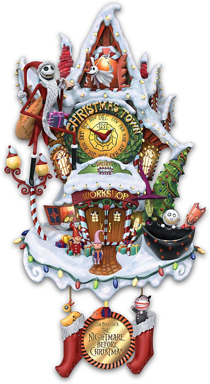 Bradford Exchange Tim Burton's Nightmare Before Christmas Cuckoo Clock