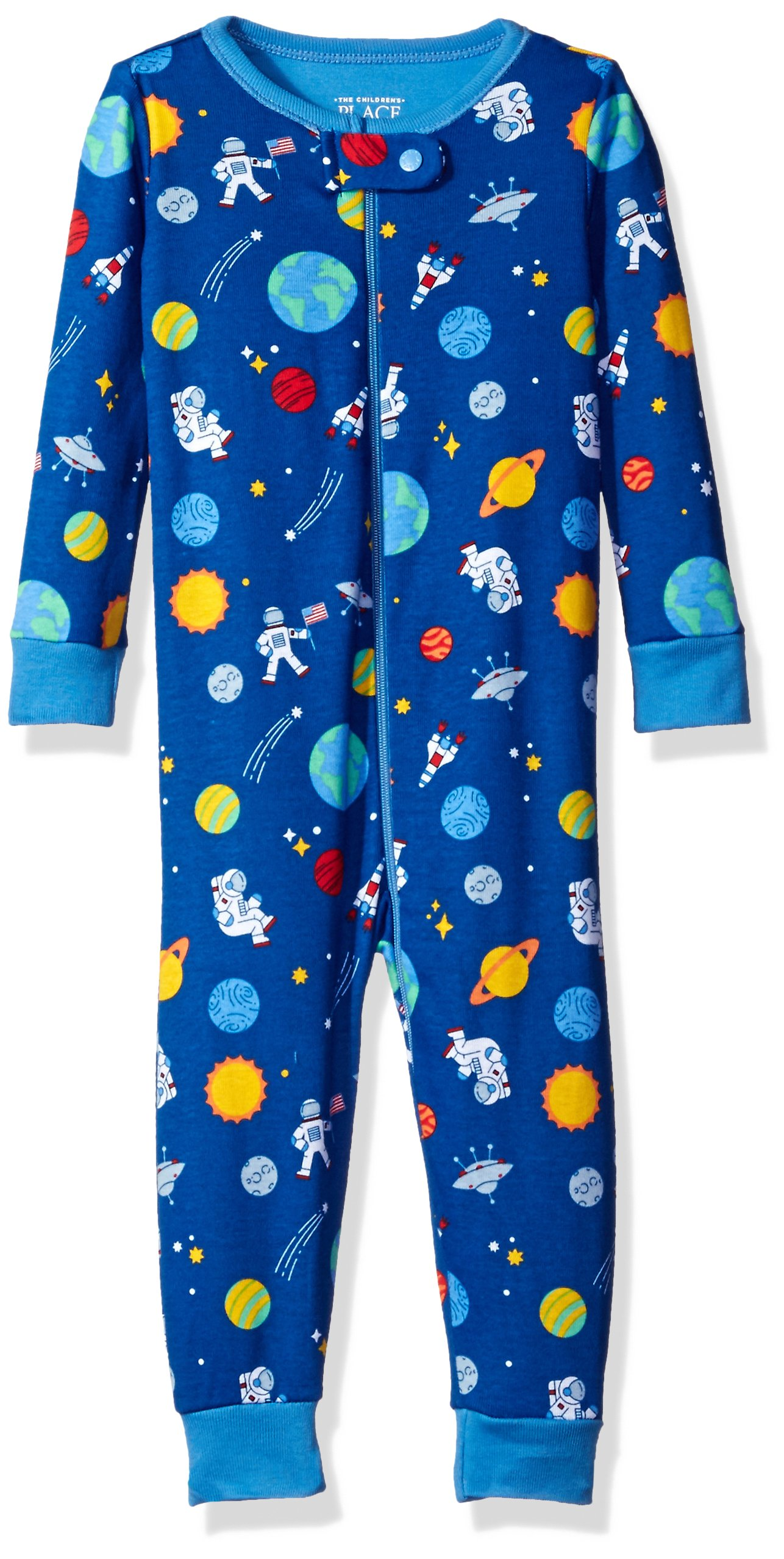 4271ec2fe8 The Children s Place Baby Boys  Long Sleeve One-Piece Pajamas 2 product  image